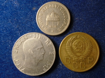 1894 1941 & 1957 OLD WORLD COINS...FULL DATES!
