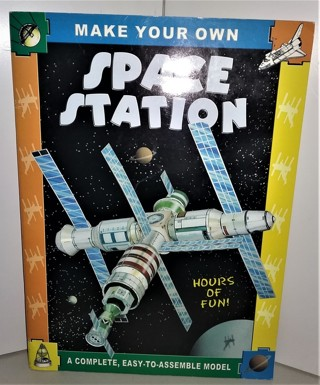 "2002 ""Make Your Own SPACE STATION"" - 16 pages + 8 pages of parts - size 9 1/4"" X 12 1/2"""