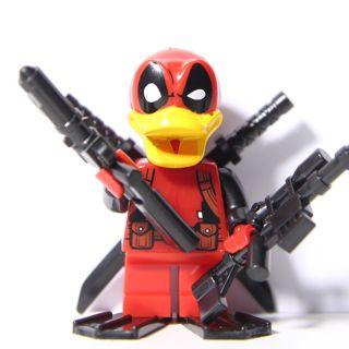 New Deadpool Duck Minifigure Building Toys Custom Lego