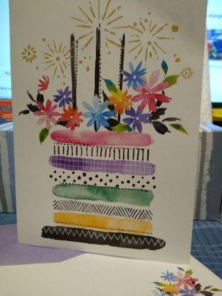 REGIOUS FAITH SPANISH BIRTHDAY CARD W/ MATCHING ENVELOPE