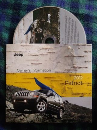 2012 Jeep Patriot owners information DVD-ROM
