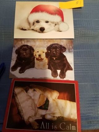 DOG COVERS OF HOLIDAY SEASON GREETING CARDS (SET OF 3) #1