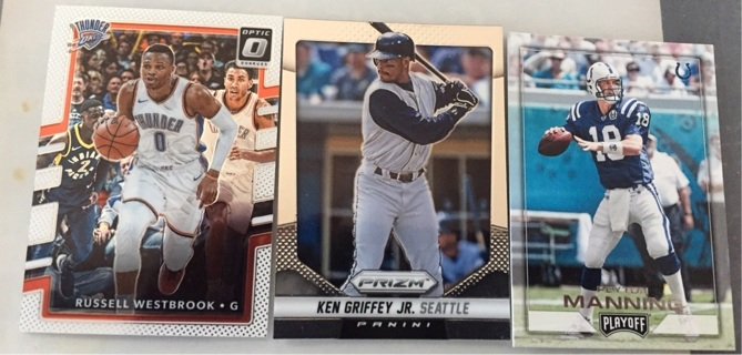Progressive 3 sport auction cards added daily