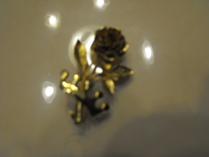 Gold colored Rose Pin