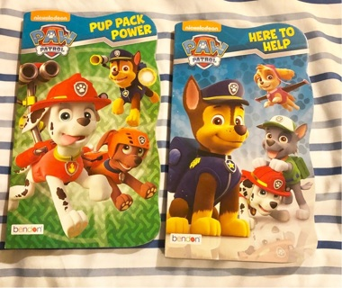 "TWO Brand New: Nickelodeon's ""PAW PATROL"" Hard Covered Books."