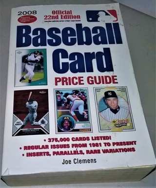 "2008 Official 22nd Edition ""Baseball Card Price Guide"" softcover - 1408 pages - 3 1/2 lbs."