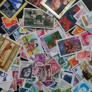 a lot of stamps