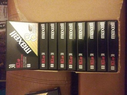 **Maxell 8mm Videotapes**