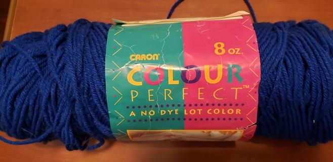 "Caron Colour Perfect Yarn - ""Royal Blue"""