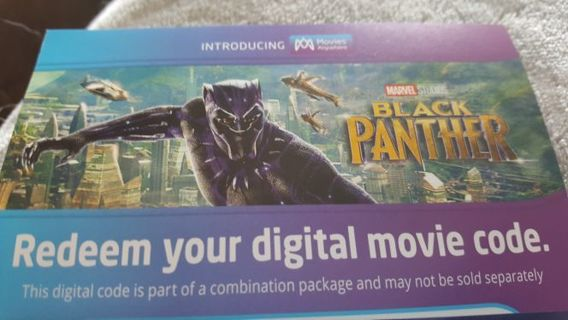 ***BLACK PANTHER HD DIGITAL CODE ONLY ***