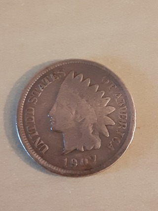 1907 Indian Head Penny in A Protective Holder