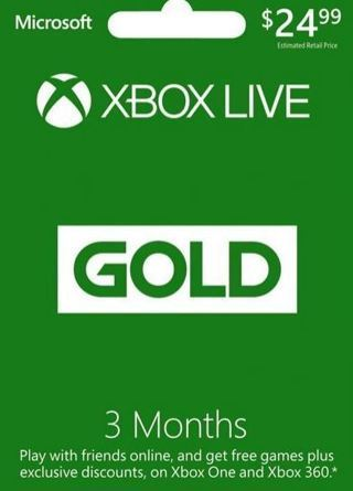 NEW 3 Month Xbox Live Gold Membership - [Digital Code] By Microsoft