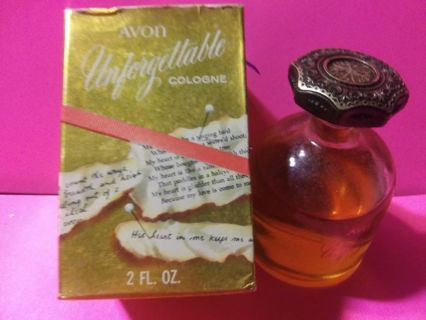 Avon 2oz Vtg Unforgetable perfume