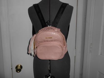 pink +black mini backpack