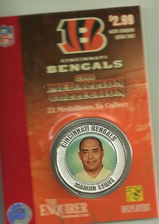 2006 Cincinnati Bengals Medallion, Marvin Lewis