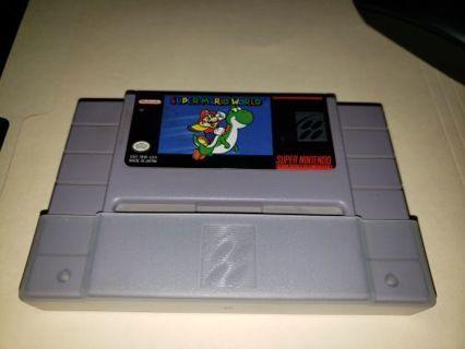 SuperMario world SNES super Nintendo cartridge