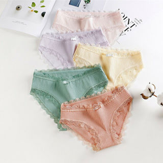 [GIN FOR FREE SHIPPING] 2Pcs Fashion Women Girl Cotton Briefs Panties Breathable Underwear