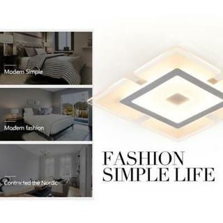Acrylic LED Ceiling Light Home Lamp Modern Elegant Living Room Bedroom Square