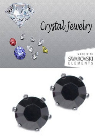 2 CARAT TW SWAROVSKI STONE EARRINGS WHITE OR YELLOW GOLD YOUR COLOR CHOICE MADE IN USA!
