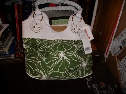 Brand New Green& White Handbag