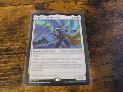 Magic the gathering mtg Sigrid God-Favored rare card kaldheim