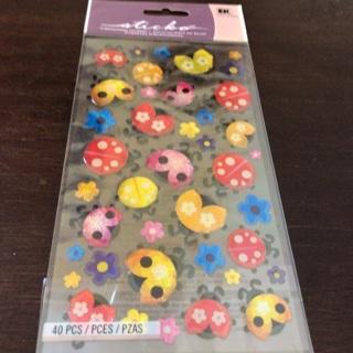 Sticko dimensional ladybug stickers