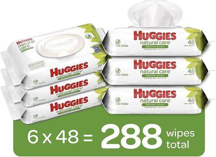 Huggies Natural Care 6 Packs