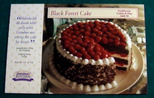 Free: 1 GRANDMA\'S KITCHEN Recipe Card - Black Forest Cake - Other ...