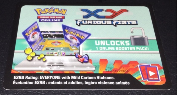 1 Pokemon Code Card ~ XY Furious Fists ~ PTCGO Code