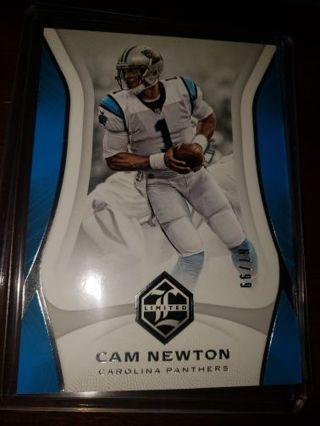 2018 Limited Cam Newton #'d 67/99 Carolina Panthers