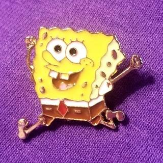 Sponge Bob pin New gold tone funny ! free ship