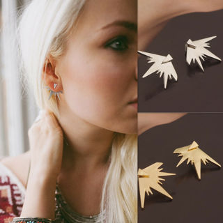 1 Pair Punk Style Women Earrings Exaggeration Triangle Drop