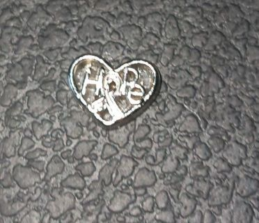 Hope heart living locket charm