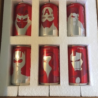 Coca Cola Coke Mini Marvel Avengers Cans Rare