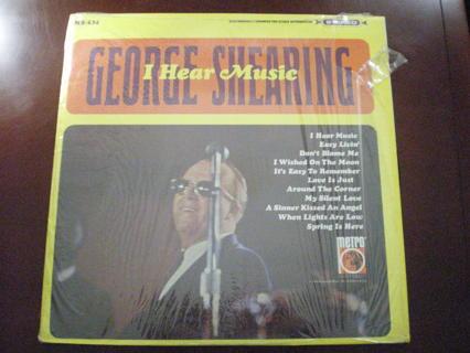 George Shearing I Hear Music Jazz LP NM-