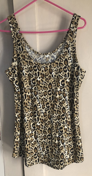 NWOT - NO BOUNDRIES LEOPARD TANK