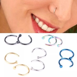 BRAND NEW MYSTERY 20G Hoop Nose Rings w Stopper