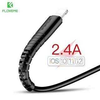 FLOVEME USB Cable For iPhone 7 8 X Hi-Tensile 2.4A Fast Charging Data Sync Charger Cable For Light