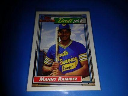 1992 TOPPS \ MANNY RAMIREZ \ INDIANS DRAFT PICK #1