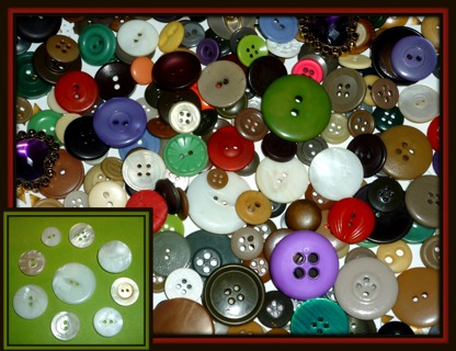233+ Great MIX Vintage to New BUTTONS Including OLD MOP! Plus.. GIN BONUS Container BOX!