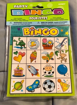 """BNIP """"PARTY BINGO"""" Eight Cards Sixteen Picture Cards. Fun For The Whole Group!"""