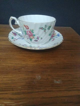 Vintage Picardy Gladstone Bone China teacup and Saucer