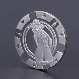 Sexy Woman YOU LOSE Charming Commemorative Coin Collection Souvenir Silver