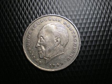 1977 2 F Deutsche Mark 1949-1969 Bundesrepublik Deutschland Germany Coin