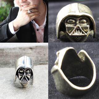 Star Wars Darth Vader Skywalker Punk silver alloy ring ~ choose your size