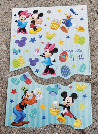 DISNEY EASTER STICKERS MICKEY MOUSE AND MINNIE MOUSE AND GOOFY AND DONALD DUCK 2 SHEETS LOT 1