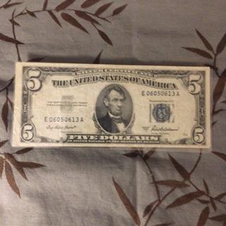 $5 silver certificate 1953