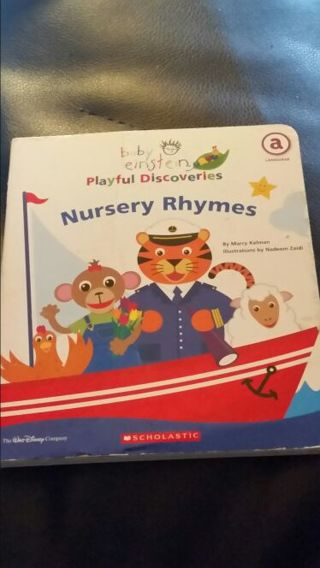 Baby Einstein Playful Discoveries Nursery Rhymes Hardback Book Free Shipping