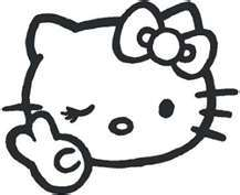 Free: ****WHITE***** Hello Kitty Peace Sign Winking Vinyl ...
