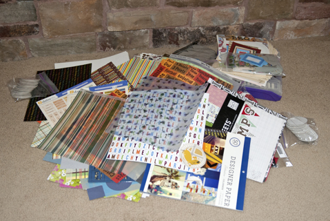 HUGE SCRAPBOOKING LOT - BIGGEST EVER! - FREE SHIPPING!